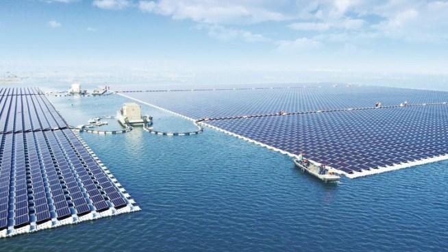 Inauguran la planta flotante de energía solar más grande del mundo en China