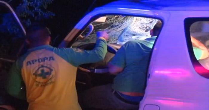 Dos lesionados tras fuerte choque el Bulevar Constitución