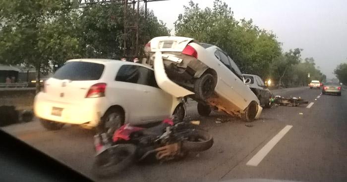 Múltiple choque en carretera de Oro dejó tres lesionados