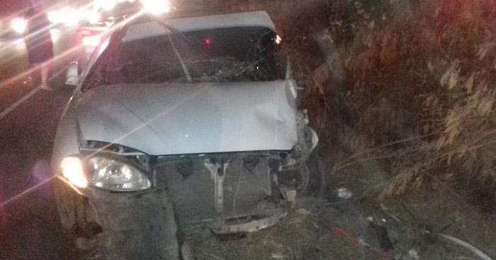 Ebrio provocó choque en carretera antigua a Zacatecoluca