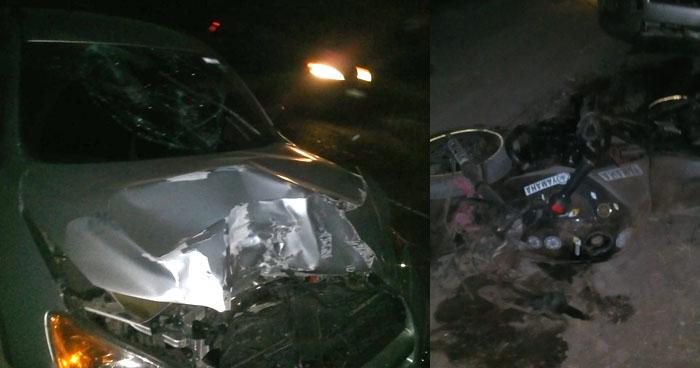 Capturan a conductor que chocó a dos motociclistas en carretera de San Luis La Herradura
