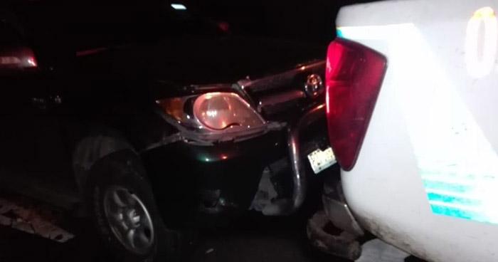 Conductor ebrio choca contra patrulla policial en carretera Troncal del Norte