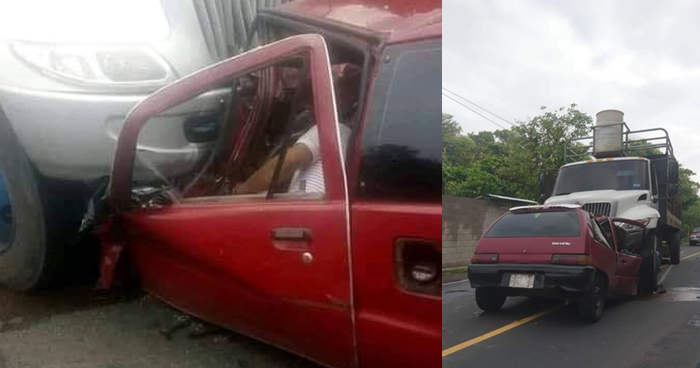 Dos muertos tras choque frontal por rebasar sobre carretera a Ilobasco