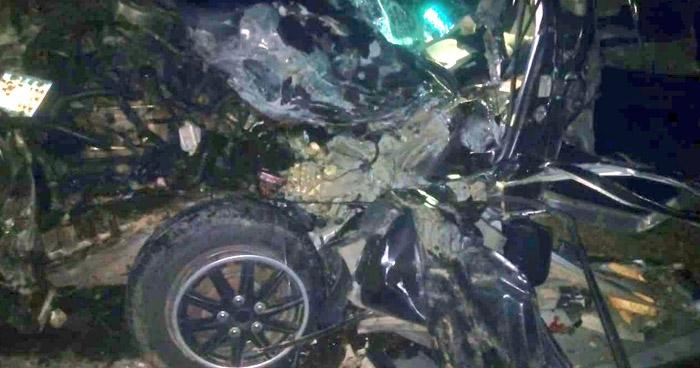 Un lesionado tras aparatoso choque en carretera de La Unión