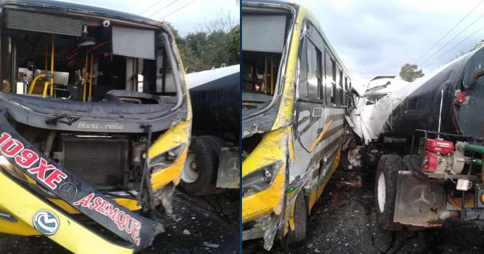 Varios lesionados tras fuerte choque en carretera de Quezaltepeque
