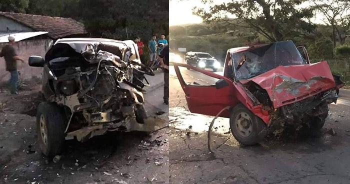 6 lesionados dejó aparatoso choque frontal en carretera Ruta Militar