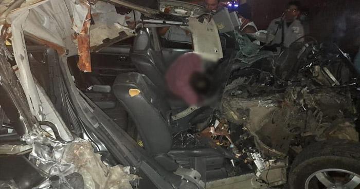 Conductor muere tras aparatoso choque en carretera de Santa Ana