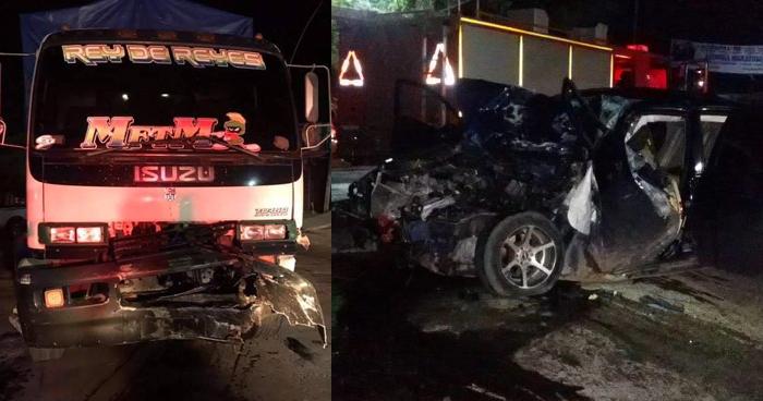 Empleado municipal ebrio muere tras chocar con un camión en Santa Rosa de Lima
