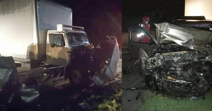Varios lesionados tras fuerte accidente de tránsito en carretera de Usulután