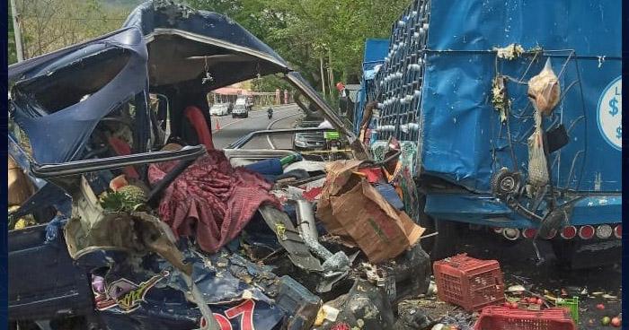 Un fallecido tras aparatoso choque en carretera Troncal del Norte
