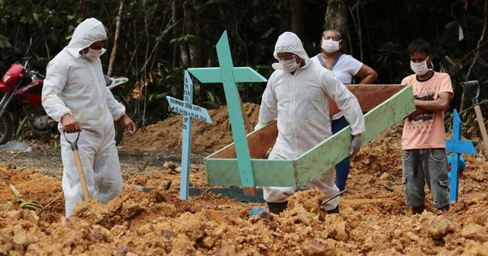 Brasil registra hoy el máximo de muertes por COVID-19