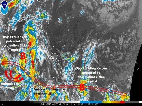 Continúan lluvias con énfasis en la zona central, oriental y zona costera del país