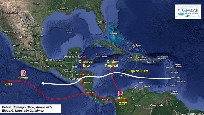 Paso de Onda Tropical provocará tormentas eléctricas este domingo