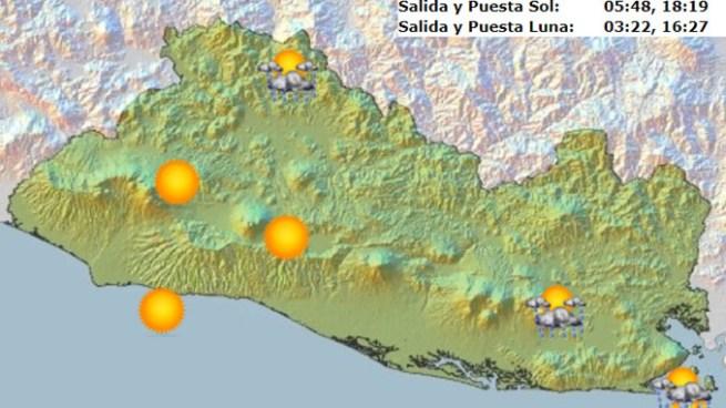 Probabilidad de chubascos y tormentas aisladas con énfasis en la franja norte y zona oriental del país