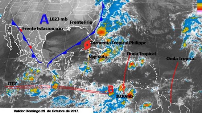 Cielo nublado y con probabilidad de lluvias principalmente en el oriente del país
