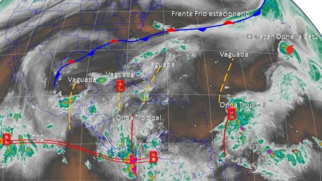 Posibilidad de lluvias aisladas con actividad eléctrica, por acercamiento de Onda Tropical