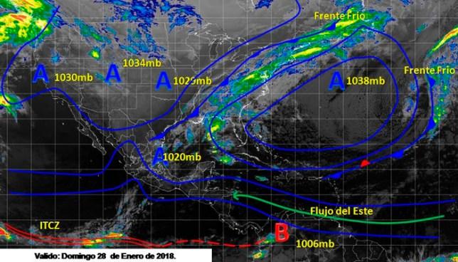 Flujo zonal de componente Este provocará vientos cálidos influenciando ambiente fresco en horas nocturnas
