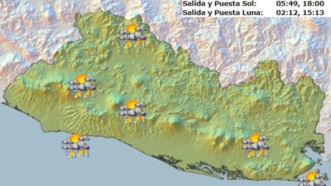 Vaguada podría favorecer formación de nubosidad y ocurrencia de tormentas para hoy