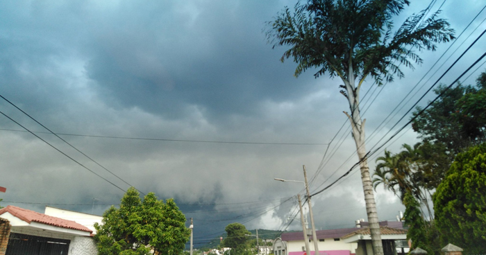 Probabilidad de lluvias y chubascos aislados cerca de las zonas altas del occidente