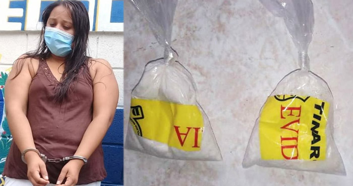 Detienen a mujer con tres bolsas de cocaína valoradas en $2.000
