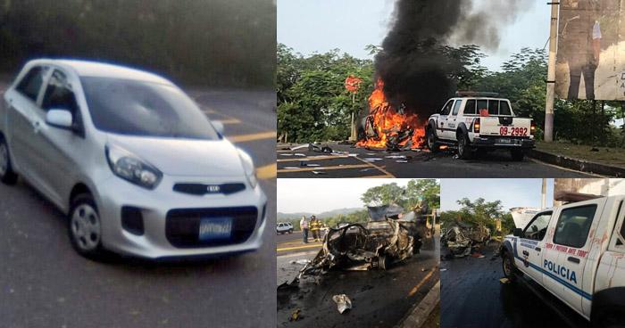 Últimos detalles del vehículo con reporte de robo que explotó esta mañana en Chalatenango