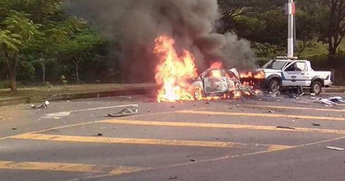 VIDEO | Difunden momento exacto de la explosión de coche bomba en Chalatenango