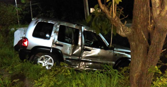 Conductor ebrio arrolla a un motociclista en carretera a Comalapa