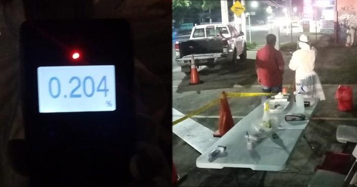 Detienen a 2 conductores en estado de ebriedad en San Salvador