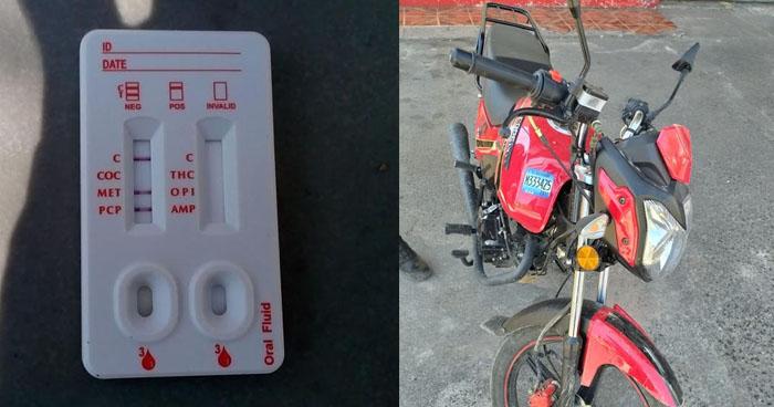 Motociclista ebrio y automovilista bajo los efectos de cocaína fueron detenidos esta mañana
