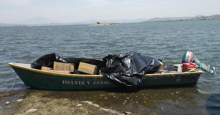 Interceptan embarcación con cigarros de contrabando en Lago de Güija