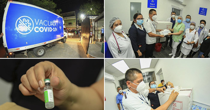 Hospitales desde occidente hasta el oriente del país ya reciben primeras vacunas contra el COVID-19