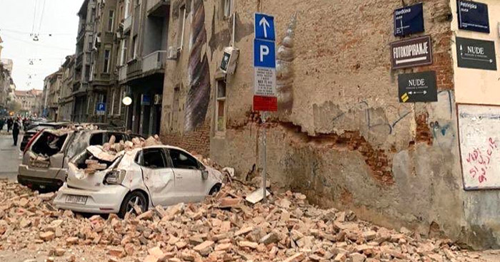 Temblores sacuden a Croacia en plena cuarentena por COVID-19