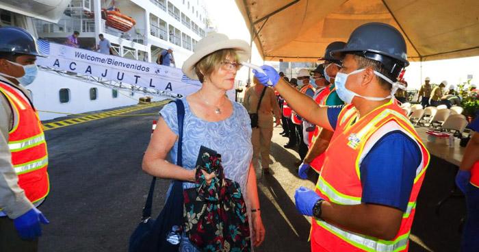 """Protocolo sanitario por """"Coronavirus"""" tras llegada de crucero en Puerto de Acajutla"""