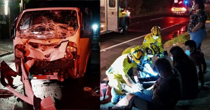 Tres lesionados tras choque en carretera de Oro