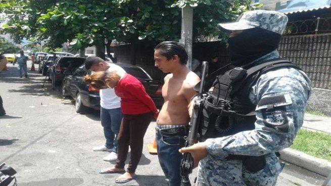 Arrestan a cuatro delincuentes en San Salvador entre ellos un cabecilla de pandillas