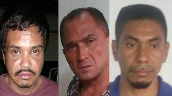 Agentes de la PNC capturan a cuatro sujetos en diferentes puntos del país