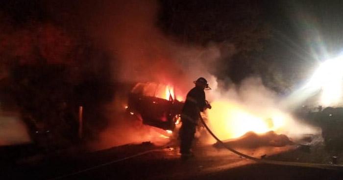 Cuatro fallecidos tras aparatoso accidente en carretera Longitudinal del Norte