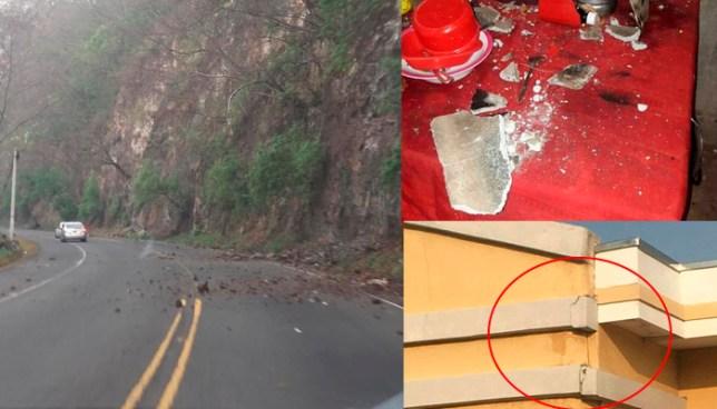 Varios daños se registraron tras fuertes sismos registrados esta mañana en el oriente del país