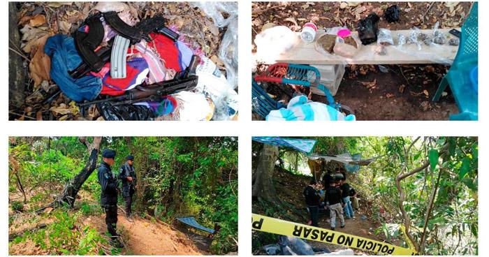 Decomisan fusiles AK-47 y drogas en zona rural de Sonsonate