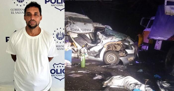 Detenido por accidente que dejó tres fallecidos en Moncagua, San Miguel
