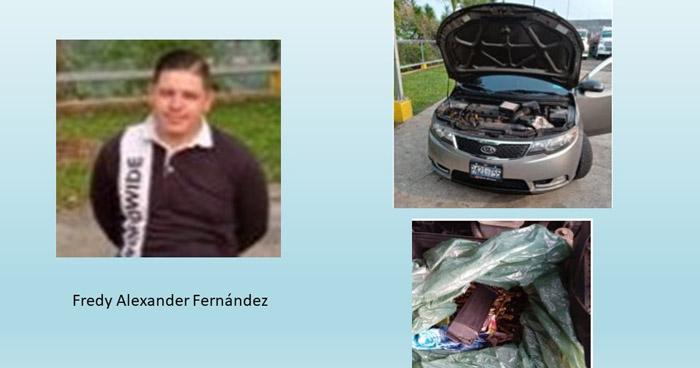 Transportaba munición oculta en un vehículo