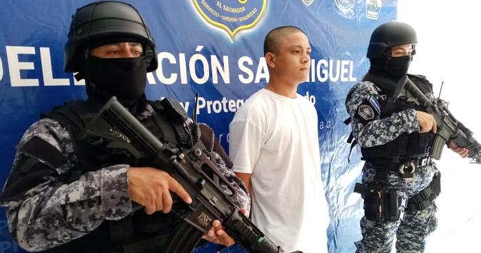 Pandillero capturado por diferentes delitos en San Miguel