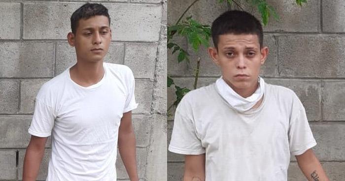 Pandilleros capturados por homicidio cometido en San Pablo Tacachico, La Libertad