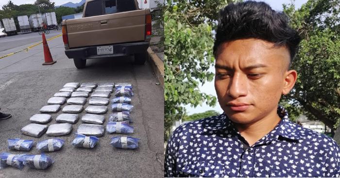 Salvadoreño transportaba más de $20 mil en droga en vehículo placas guatemaltecas