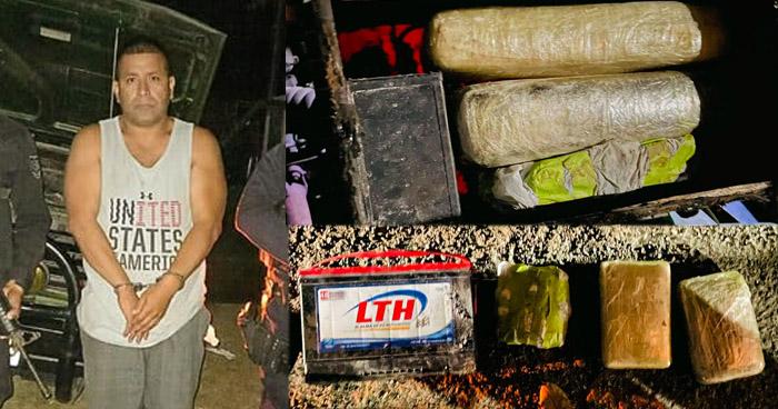 Ocultaba más de $50 mil en droga en una batería para vehículo