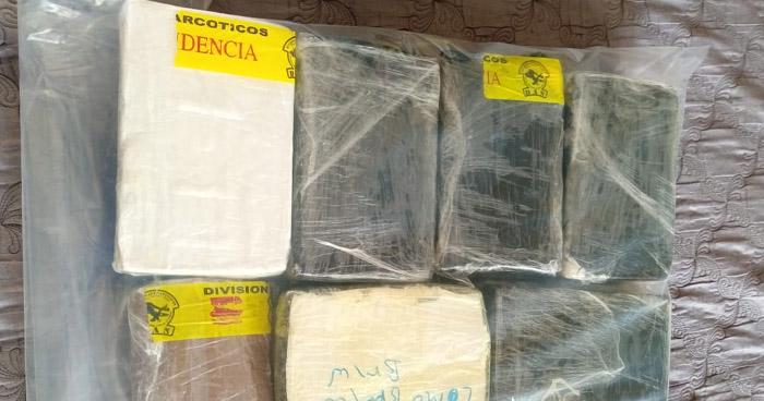Encuentran 13 kilos de cocaína en vivienda de San Miguel