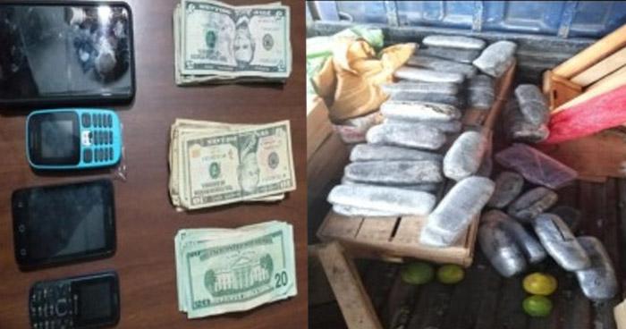 Transportaban droga oculta en un camión de verduras