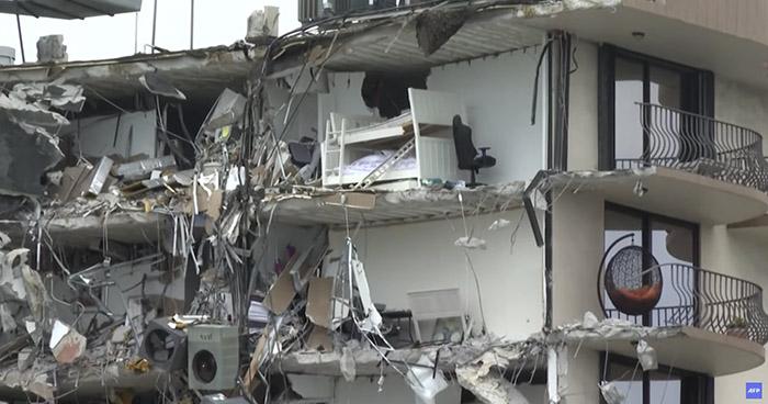 Sube a cuatro el número de muertos tras derrumbe en Miami
