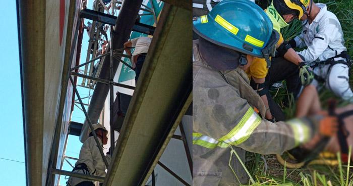 Hombre electrocutado cuando trabajaba en valla publicitaria en Redondel Masferrer