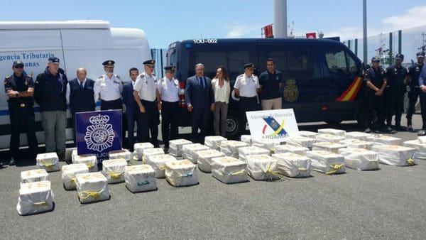 Barco venezolano es interceptado con 1.200 kilos de cocaína en España
